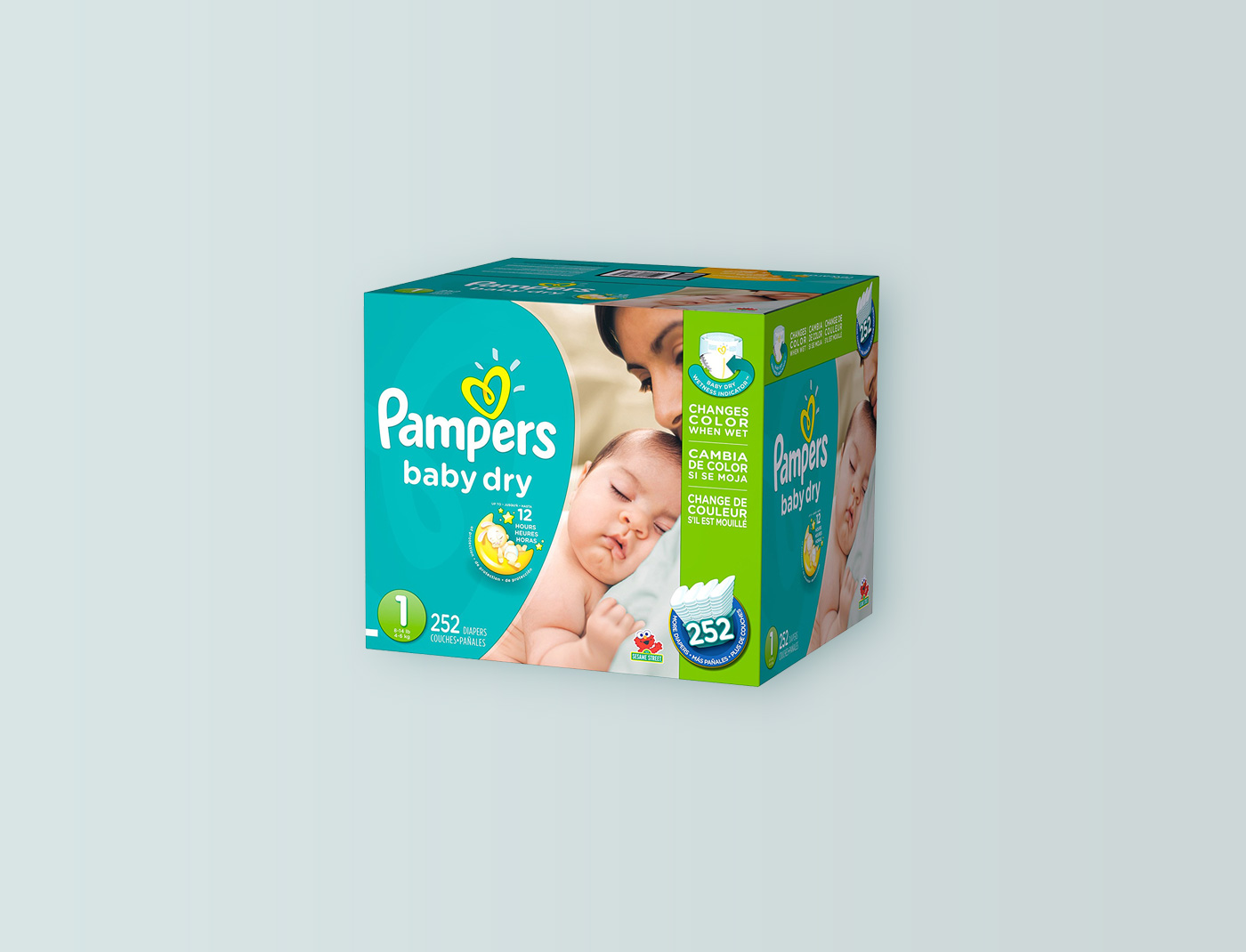 Pampers Baby Dry Size: 1, Count: 252