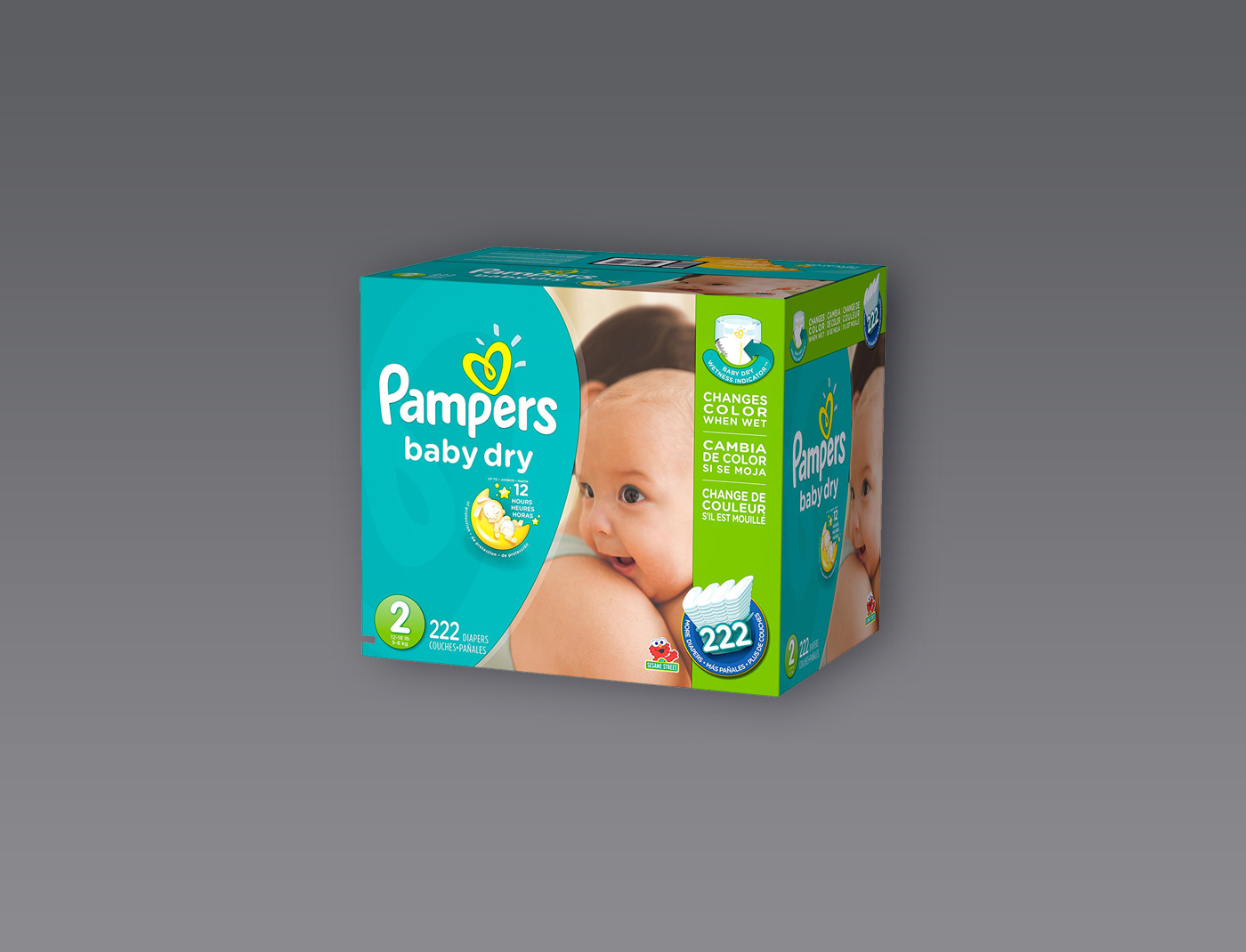 Pampers Baby Dry Size: 2, Count: 222