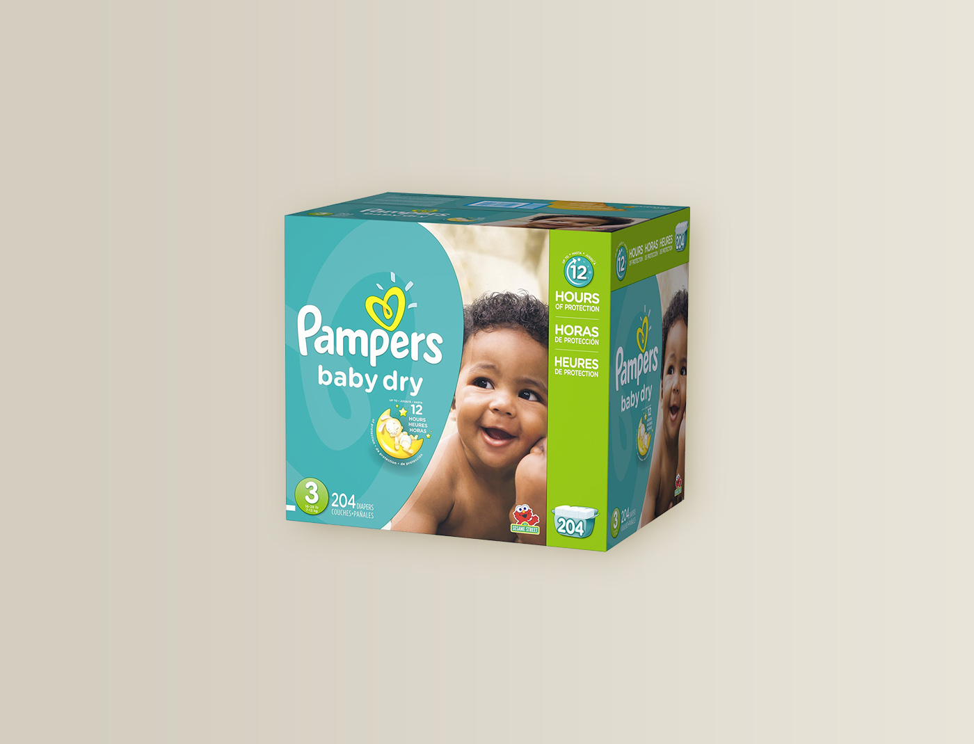 Pampers Baby Dry Size: 3, Count: 204
