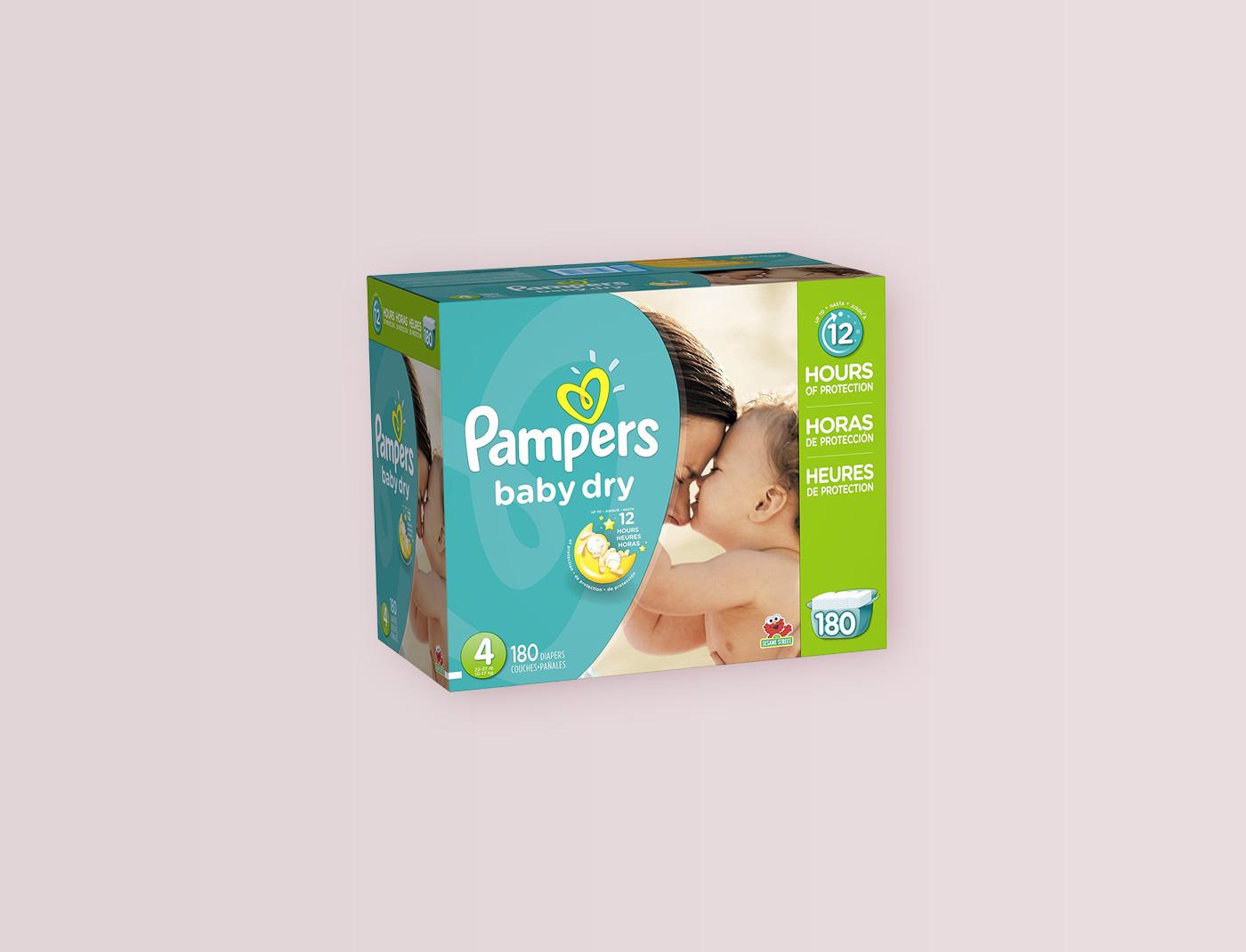 Pampers Baby Dry Size: 4, Count: 180